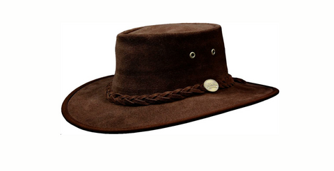 Barmah Hat - Suede Chocolate - 1025