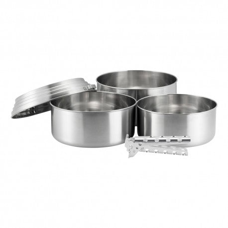 Solo Stove 3 Pot Set - Lightweight Cook Set - PREPARE FOR ADVENTURE