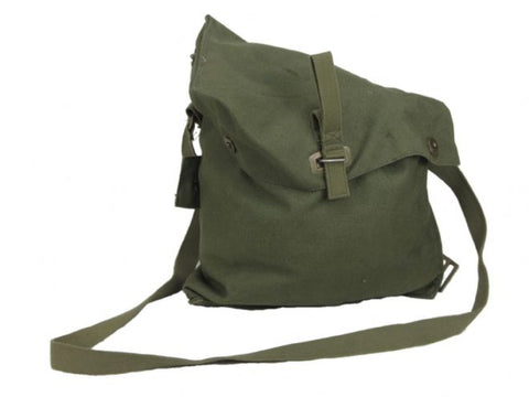 Swedish Army Olive Green Canvas Shoulder Bag - PREPARE FOR ADVENTURE