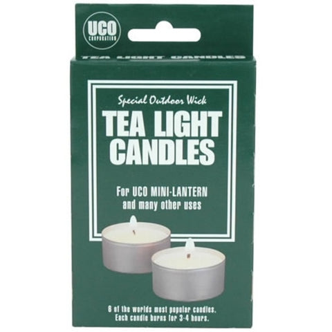 UCO Tealight Candles - Micro And Mini Lantern - Pack Of 6 - PREPARE FOR ADVENTURE