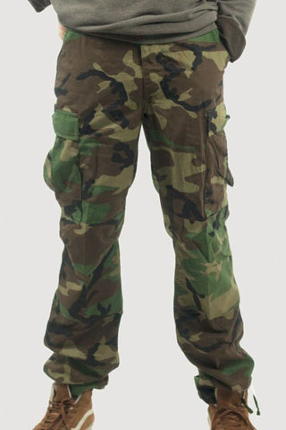 US Army BDU Woodland Camo Trousers