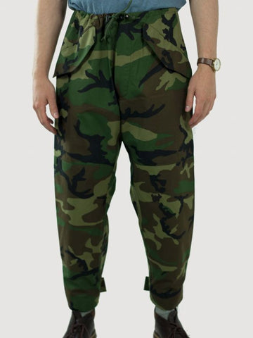 US Army Woodland Camo Gore-Tex Over Trousers