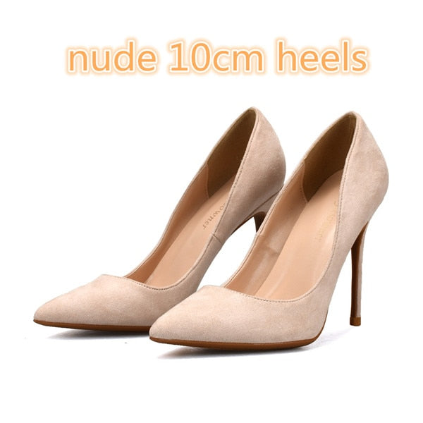 WomenPointed Nude High Shoes ToeMature Heels Zapatos Black uFJ35lcT1K