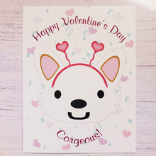 Load image into Gallery viewer, Corgi Valentine's Day Postcards - Pups of Color