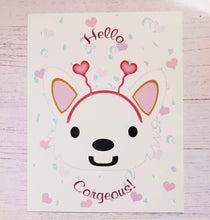 Load image into Gallery viewer, Corgi Valentine's Day Postcards