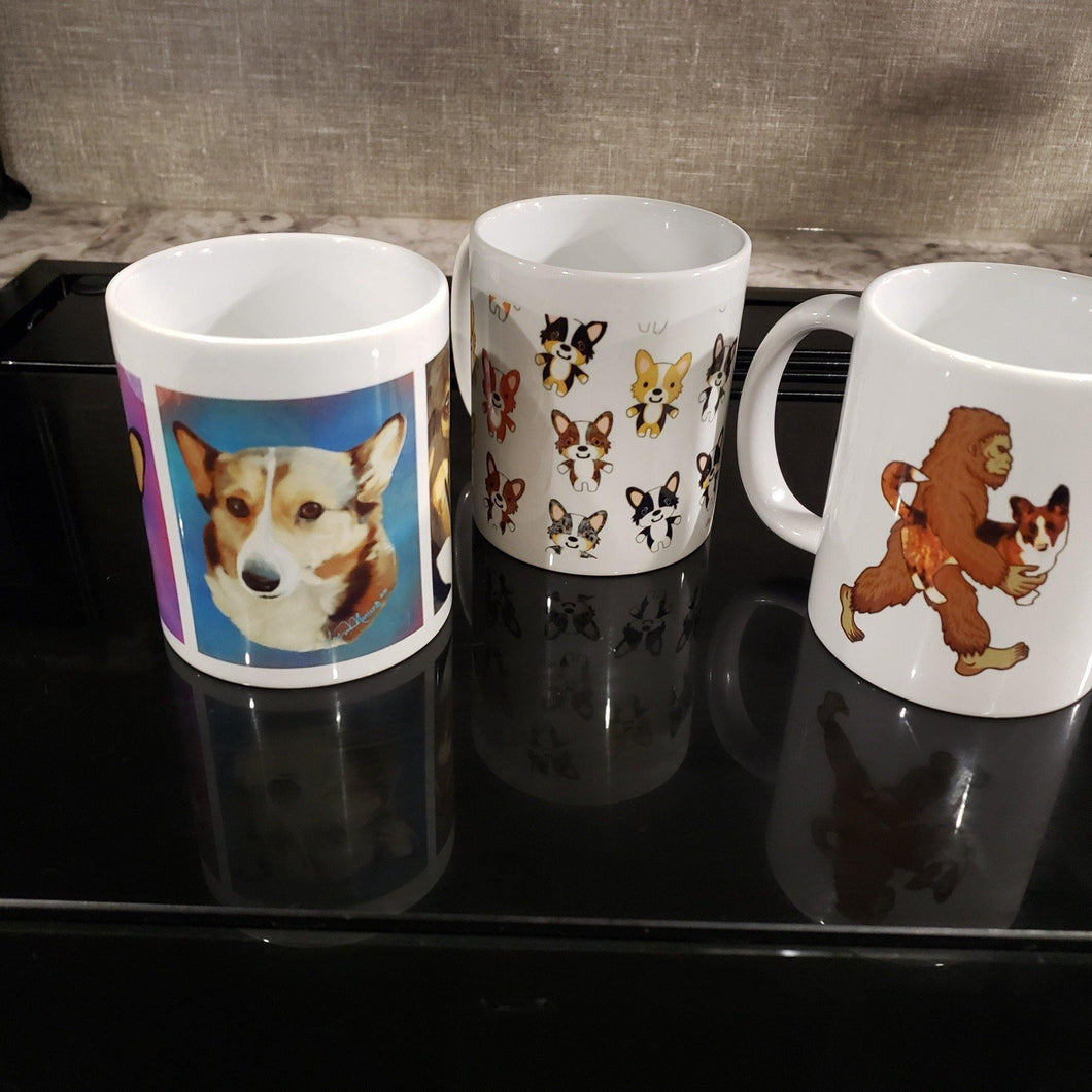 Customized 11oz Ceramic Mug - Pups of Color