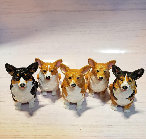 Pembroke Welsh Corgi Figurine - Pups of Color