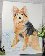 Load image into Gallery viewer, Custom Watercolor on Claybord, Cradled - Large Format - Pups of Color