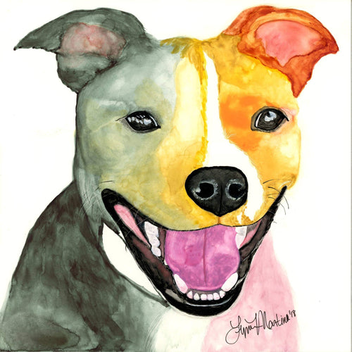 Mocha SBT Original Watercolor - Pups of Color