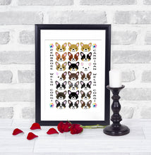 Load image into Gallery viewer, Digital Graphic Illustration Poster - Pups of Color