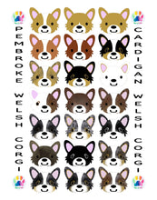 Load image into Gallery viewer, Corgi Digital Graphic Illustration Poster - Pups of Color