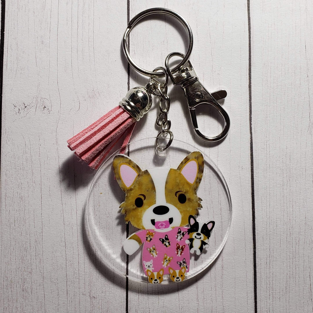 Corgi Holiday Ornaments and Keychains - Pups of Color