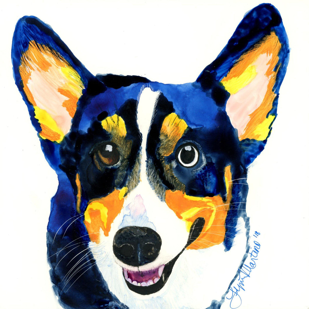Custom Watercolor on Claybord - Small to Medium Size Format - Pups of Color