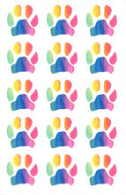 Load image into Gallery viewer, Rainbow Paw Print Sticker or Vinyl Decal - Pups of Color