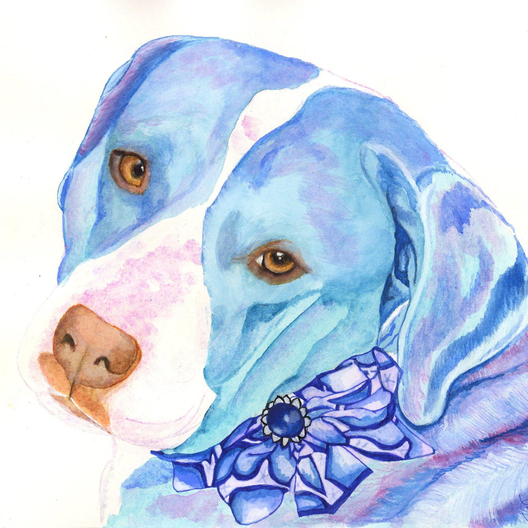 Custom Watercolor on Archival Paper - Small to Medium Size Format - Pups of Color