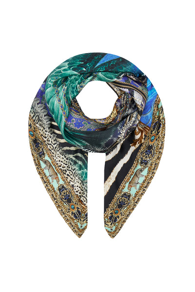 LARGE SQUARE SCARF ANIMAL ARMY
