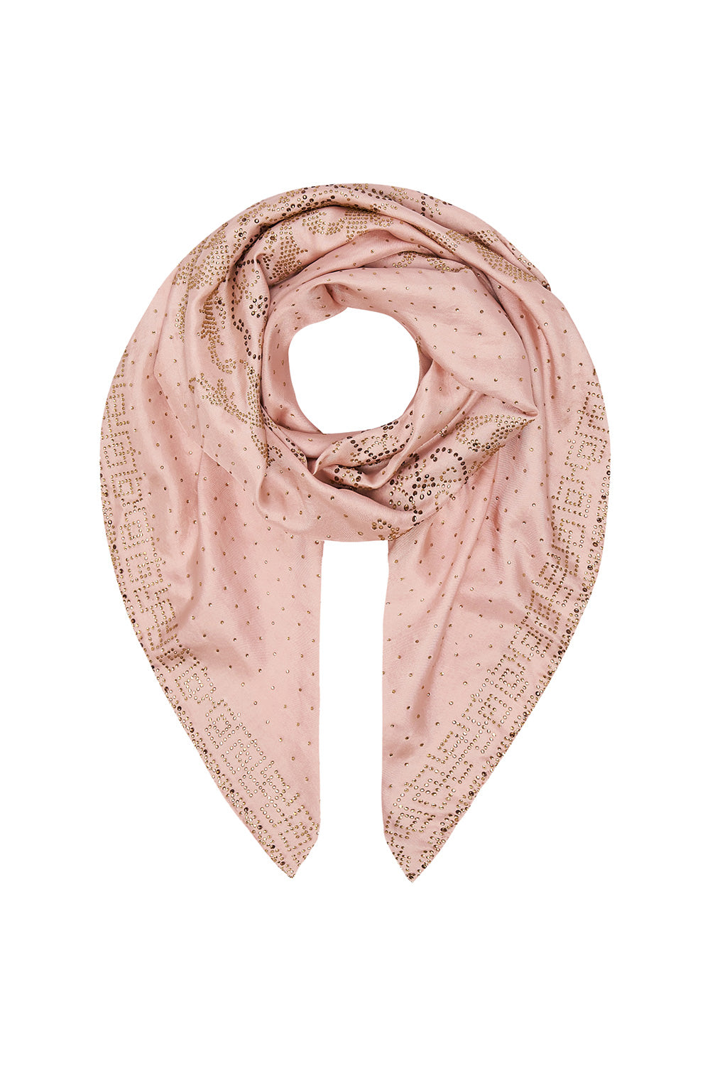 LARGE SQUARE SCARF LUXE PINK