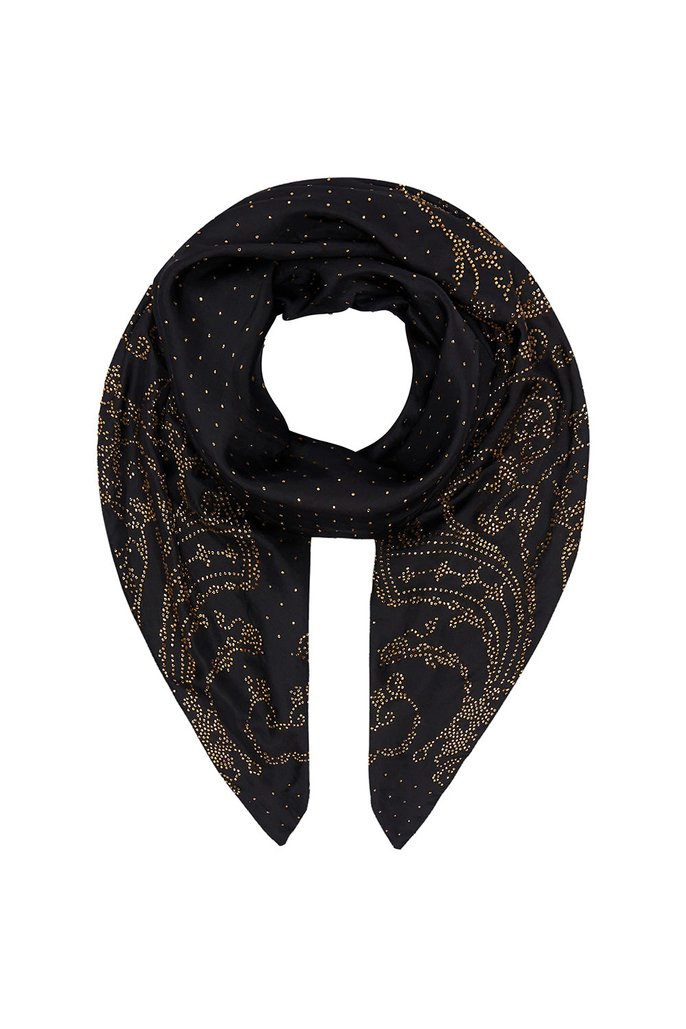 LARGE SQUARE SCARF LUXE BLACK