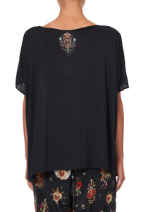 LOOSE FIT ROUND NECK TEE MONTAGUES CAPULET