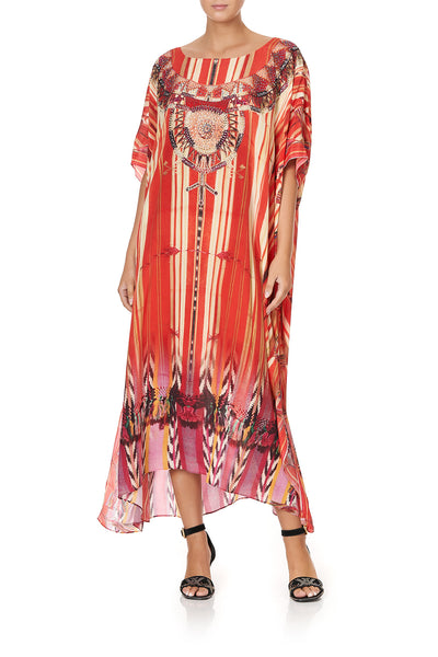 ROUND NECK KAFTAN ARROW OF THE LOOM
