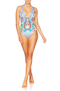MASKING MADNESS U-RING HALTER ONE PIECE