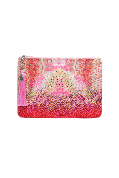 SMALL CANVAS CLUTCH SERPENTINE DREAMS