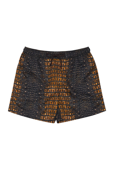 ELASTIC WAIST BOARDSHORT CROCODILE ROCK