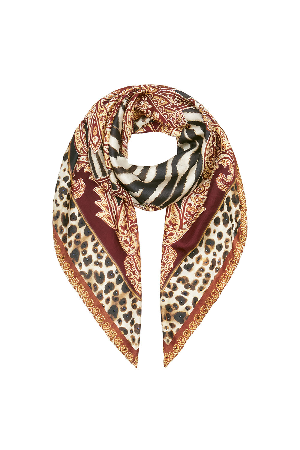LARGE SQUARE SCARF WILD FIRE
