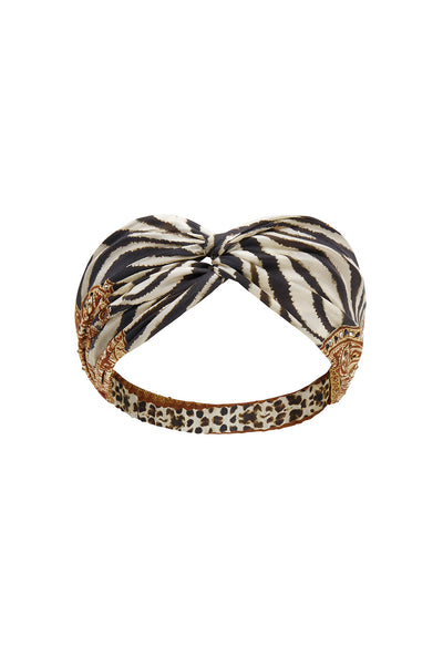 WOVEN TWIST HEADBAND WILD FIRE