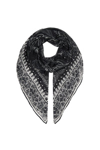 OVERSIZED SILK SCARF MIDNIGHT PEARL