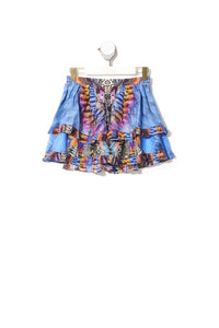 KIDS DOUBLE LAYER FRILL SKIRT LOVE ON THE WING