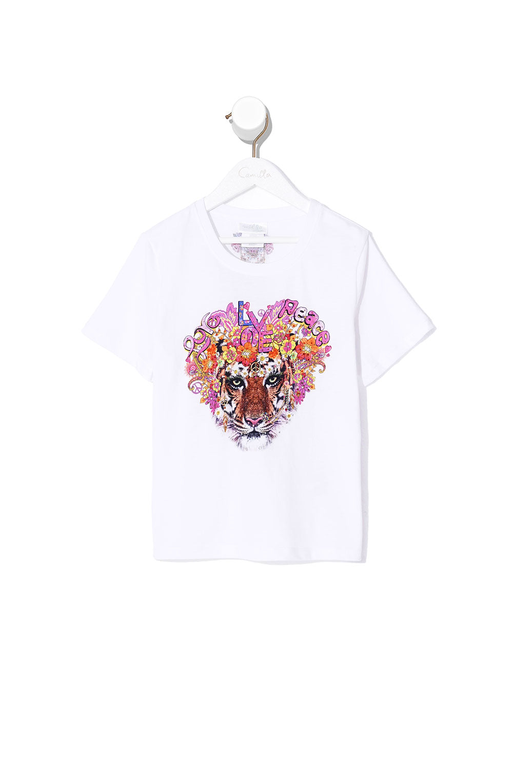 INFANTS SHORT SLEEVE T-SHIRT PEACE LOVE AND HAIR