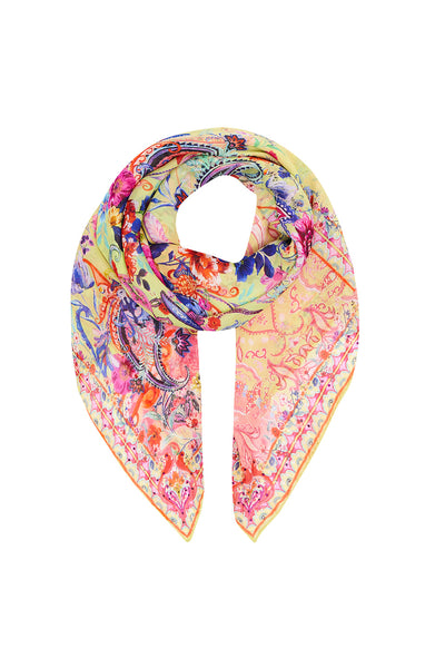 OVERSIZED SILK SCARF PEACE MOVEMENT