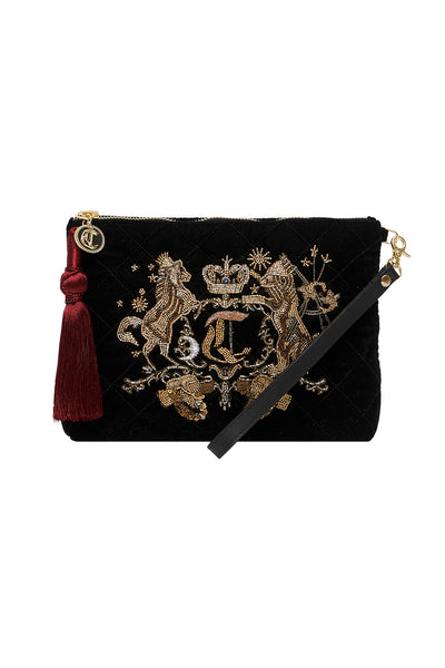 QUILTED VELVET CLUTCH DINING HALL DARLING