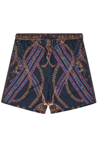 ELASTIC WAIST BOARDSHORT DINING HALL DARLING