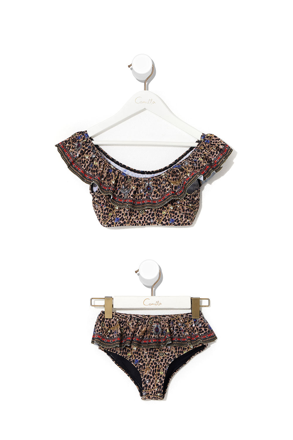 KIDS FRILL CROP BIKINI 4-10 POETIC ANARCHY
