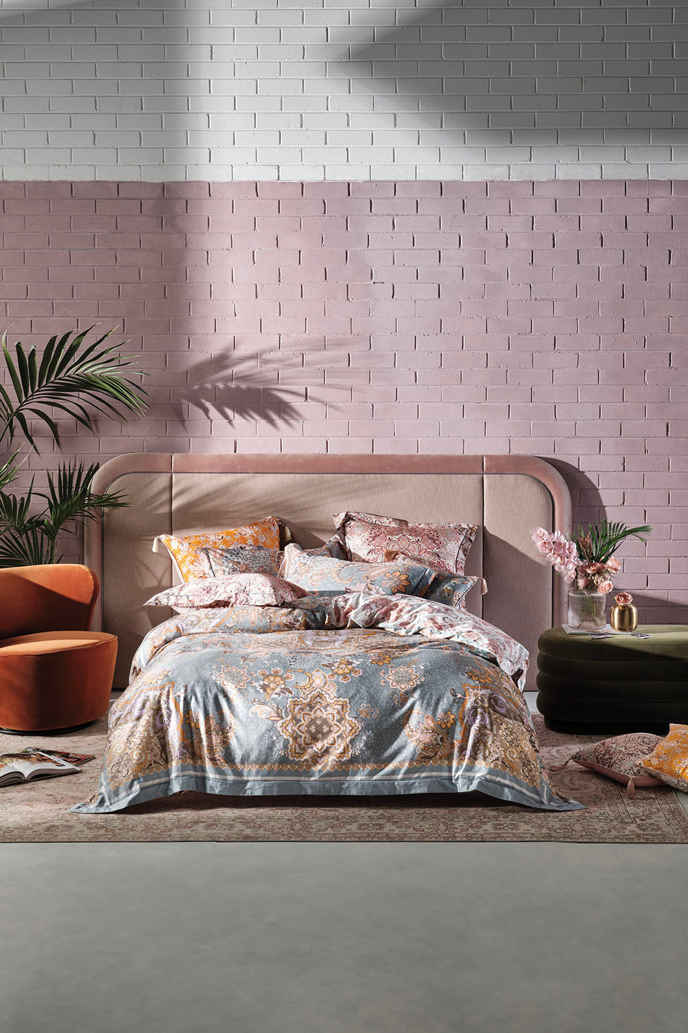 SUPER KING BED QUILT COVER SET LE PALAIS DU ZAHIR