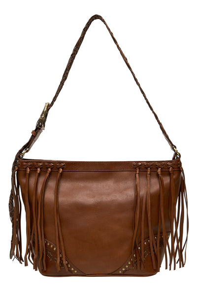 LEATHER HOBO TAN