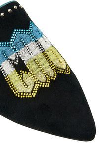 AUS EMBROIDERED SLIPPER PLACEMENT