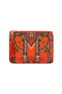 SMALL CANVAS CLUTCH WONDERING WARATAH