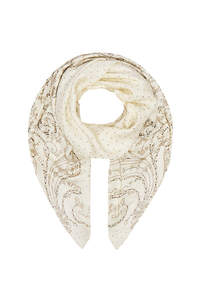 LARGE SQUARE SCARF LUXE CREAM