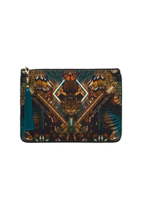 SMALL CANVAS CLUTCH MATERNAL INSTINCT