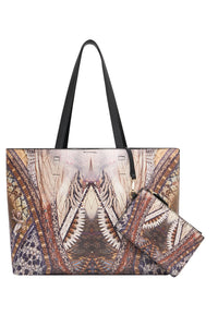 EAST WEST TOTE WITH POUCH KAKADU CALLING