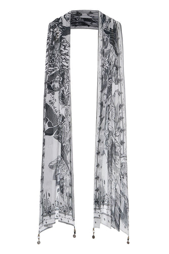LONG SCARF SILVER LININGS