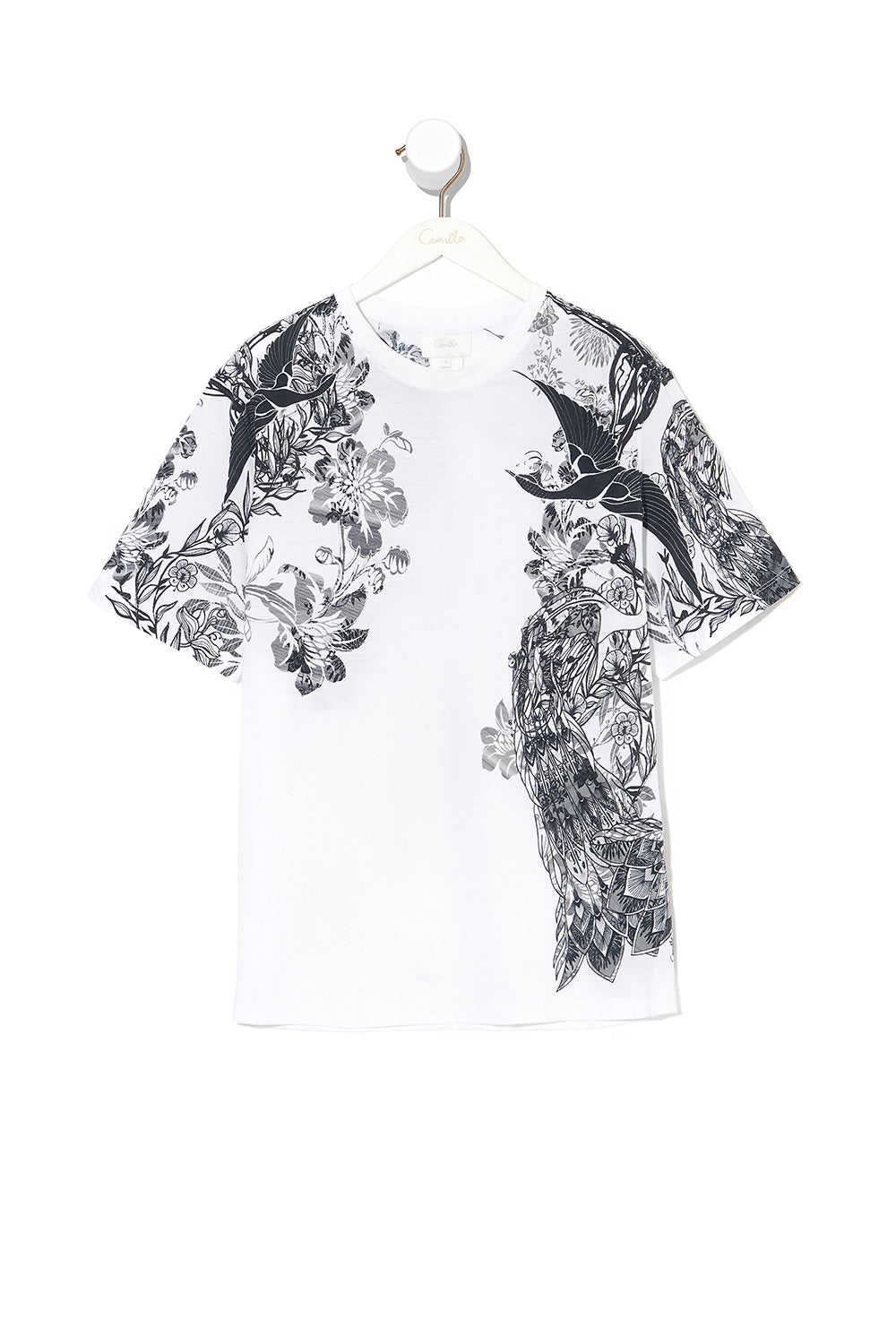 ROUND NECK T SHIRT SILVER LININGS