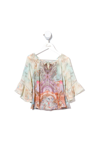 KIDS RAGLAN BLOUSE WITH FRILL ELECTRON LIBRE