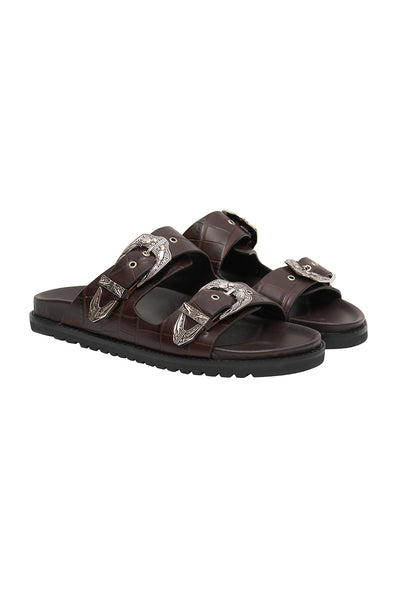 OUTBACK SLIDE DARK BROWN
