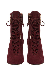 LACED BOOT BURGUNDY