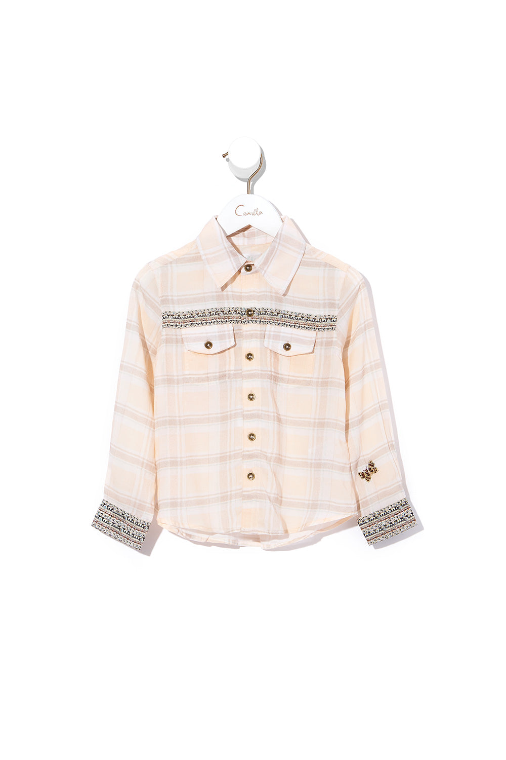 KIDS BUTTON FRONT SHIRT KINDRED SKIES