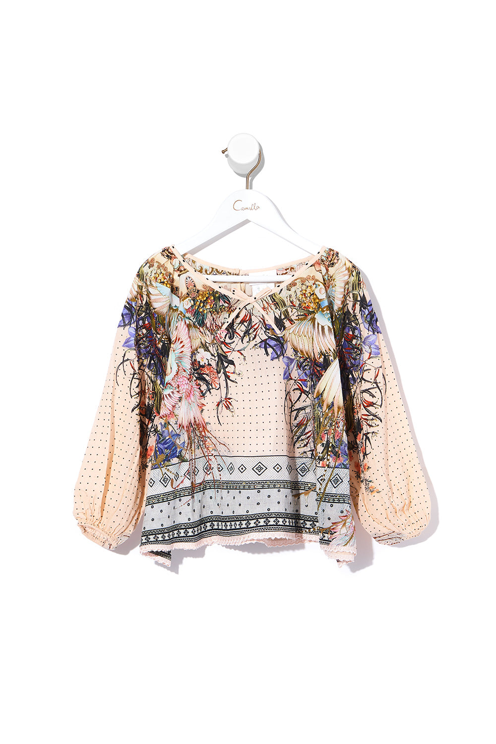 KIDS RELAXED FIT BLOUSE KINDRED SKIES